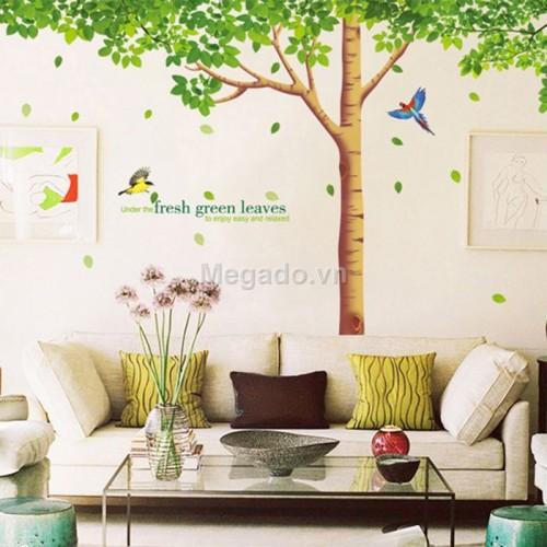 Decal cây xanh cổ thụ A001
