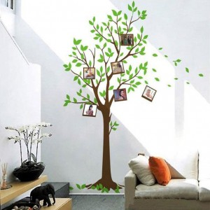 Decal cây xanh và khung ảnh A014