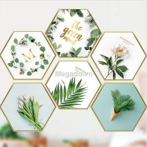 Decal tranh hoa lá ghép A188
