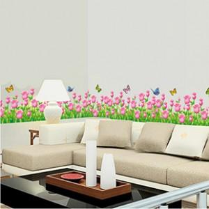 Decal chân tường hoa tuylip A197