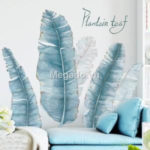 Decal lá chuối xanh A238