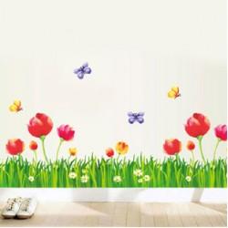 Decal chân tường hoa poppy A280