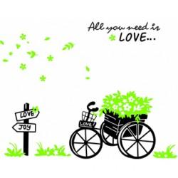 Decal xe hoa tình yêu A301
