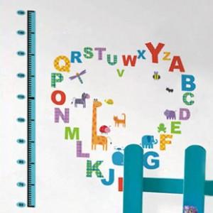 Decal chữ cái, đo chiều cao A351