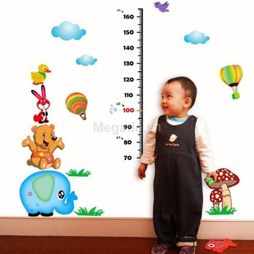 Decal đo chiều cao con voi xanh A494