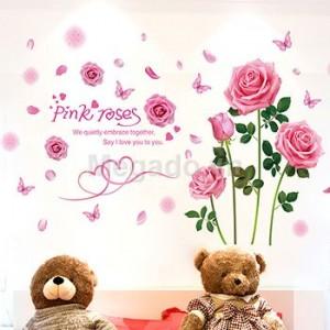 Decal khóm hoa hồng A505