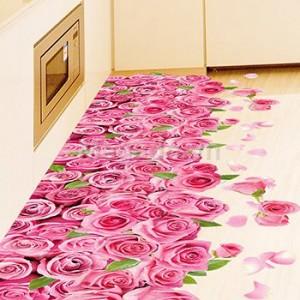 Decal thảm hoa hồng A578