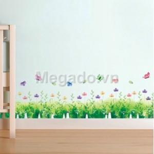 Decal chân tường hoa A611