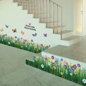 Decal chân tường hoa cúc dại A668