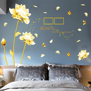 Decal dán tường hoa hồng vàng A748