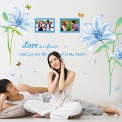 Decal dán tường hoa ly xanh A755