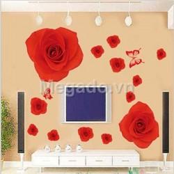Decal hoa hồng A834