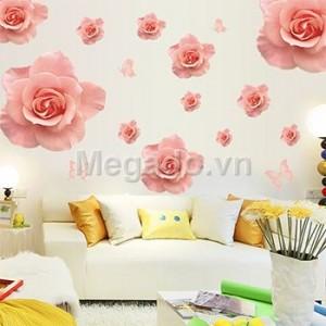 Decal hoa hồng A835