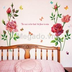 Decal hoa hồng A844