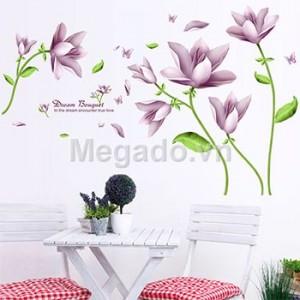 Decal hoa trang trí A862