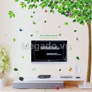 Decal cây xanh A871