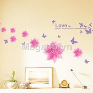 Decal hoa trang trí A886