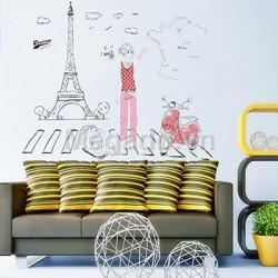 Decal cô gái và tháp Eiffel A916