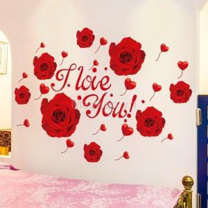 Decal dán tường hoa hồng A924
