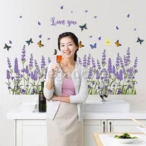 Hoa lavender tím chân tường B046