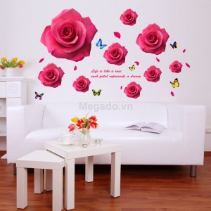 Decal hoa hồng B090