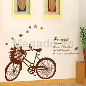 Decal xe đạp tình yêu B152
