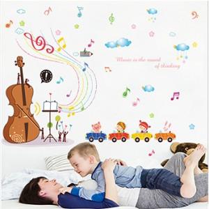 Decal nốt nhạc và cây đàn B183
