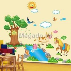 Decal ngựa và dòng sông B259