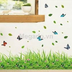 Decal cỏ chân tường B265