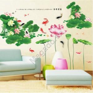 Decal đầm hoa sen N026