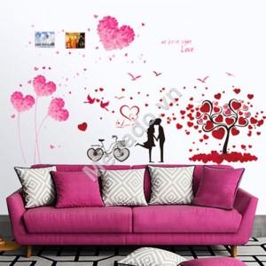 Decal dán tường cây trái tim N125
