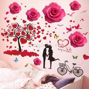 Decal hoa hồng tình yêu N147