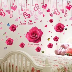 Decal hoa hồng tình yêu N152