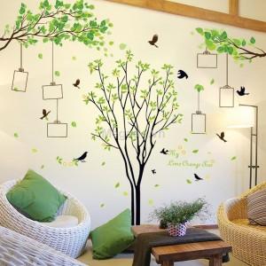 Decal cây xanh khung ảnh N206