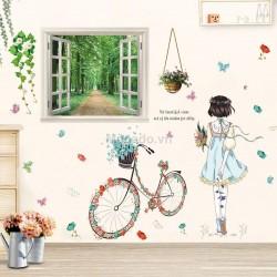 Decal cô gái và cửa sổ N209