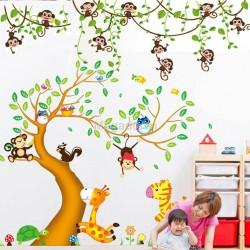 Decal vườn thú và khỉ N212