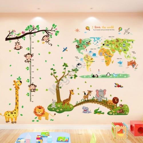 Decal vườn thú cho bé N259