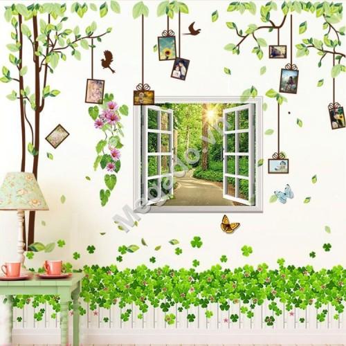 Decal cây khung ảnh và cửa sổ N348