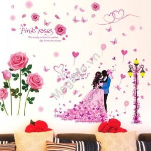 Decal hoa hồng tình yêu N356