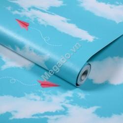 Decal cuộn mây trắng C0014A