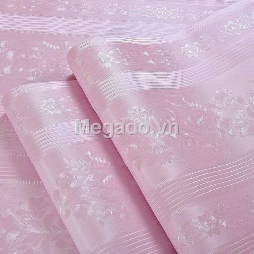 10m Giấy dán tường sọc hồng C0032B