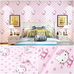 10m Giấy dán tường Hello Kitty C0036