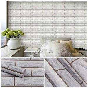 10m Giấy dán tường gạch trắng C0039A