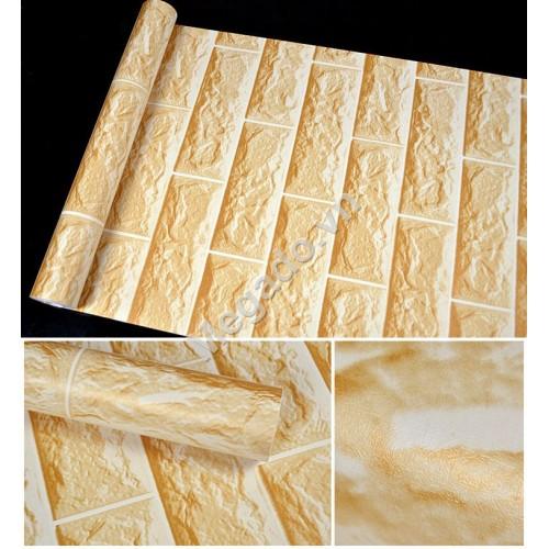 10m Giấy dán tường gạch vàng C0039B