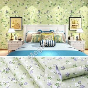 Giấy dán tường hoa chấm xanh C0043
