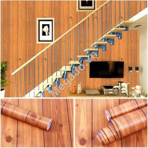 10m Giấy dán tường giả gỗ C0044
