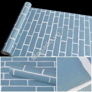 10m Giấy dán tường gạch xanh C0049B