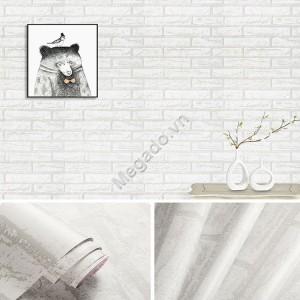 10m giấy dán tường giả gạch trắng C0051