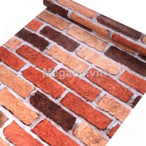 10m giấy dán tường giả gạch đỏ C0053