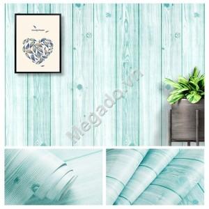 10m Giấy dán tường giả gỗ xanh C0057
